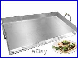 Restaurant Style Heavy Gauge Stainless Steel Plancha Rectangular Griddle Comal