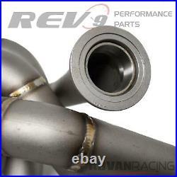 Rev9(HP-MF-RB25-T3-11G-44) Turbo Manifold Stainless Steel T304 11 Gauge Pipe