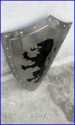 Roman Knight Templar Crusader 18gauge Medieval Heater Latin Warrior Shield