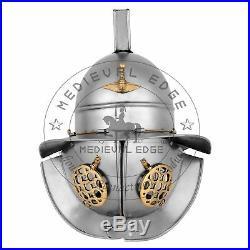 Roman Thraex Gladiator Helmet 18 Gauge Steel