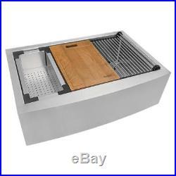 Ruvati RVH9300 Verona 36 Farmhouse Single Basin 16 Gauge Stainless Steel Kitche