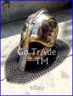 Sca Larp Viking helmet Vendil helmet Valsgärde Helmet 16 Gauge Medieval Gift