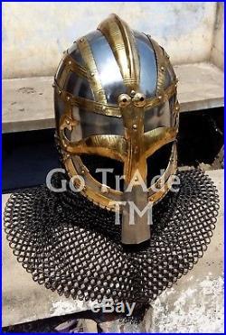 Sca Larp Viking helmet Vendil helmet Valsgärde Helmet16 Gauge Medieval Gift
