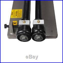 Sheet Metal Bead Roller Steel Gear Drive Bench Mount 18-Gauge Capacity With 6 Die