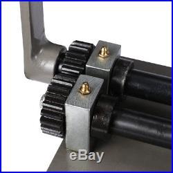 Sheet Metal Bead Roller Steel Gear Drive Bench Vice Mount 18-Gauge with 6 Set Dies
