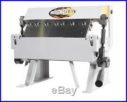 Sheet Metal Box and Pan Brake Steel Frame 12Maximum W 20-Gauge Capacity