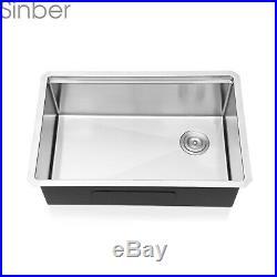 Sinber 30 Undermount 16 Gauge Single Bowl Stainless Steel Kitchen Sink