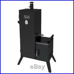 Smoker Grill Vertical Offset Box Outdoor Kitchen Charcoal Wood Cooker Gauge