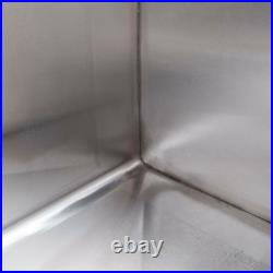Stainless Steel Commercial Utility Sink Prep Hand Wash Tub 16 Gauge 24x24x14