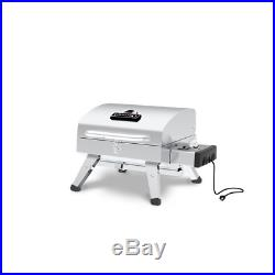 Stainless Steel Table Top Portable Electric Grill Lid-Mounted Temperature Gauge