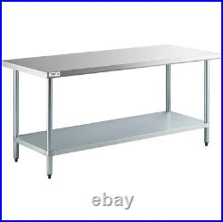Stainless Steel Work Prep Kitchen Table Commercial Restaurant 18 Gauge 30 x 72