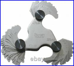 Starrett 51 Leaf, 4 to 84 TPI Range, Steel Screw Pitch Gage 60° Thread Angle