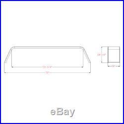 Steel 14 Gauge Diamond Tread Plate Tandem Axle 2 Trailer Fenders 10x72x13