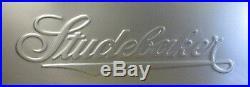 Studebaker Script Die Stamped Panel 16 Gauge Steel 17 3/4 X 49