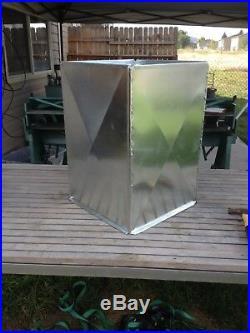 Supply Air Duct Plenum 12 X 24 X 35 1/2 Long Galvanized Steel 26 Gauge