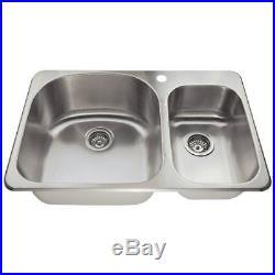 T3121L 18 Gauge Topmount Offset Stainless Steel Kitchen Sink