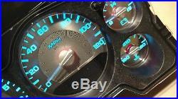 US Speedo Custom Stainless Steel Gauge Face Blue Lighting 2007-13 GM Truck & SUV