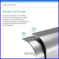 Undermount Stainless Steel Kitchen Sink 32 in. Single Bowl 16-Gauge Easy Clean