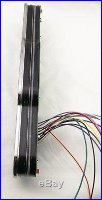 Universal 7 Gauge Analog Panel 3D STAINLESS STEEL Faceplate! Chrome Billet BLUE