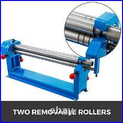 VEVOR Slip Roll 24x16 Gauge Sheet Metal Round Steel Roller Former Gear Driven