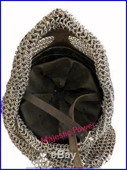 Viking Helmet Vendel SCA LARP Helmet 14 gauge steel and brass Helmet
