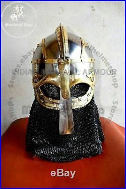 Viking helmet Vendel helmet Valsgärde 8 Helmet 16 Gauge Medieval SCA LARP Giftt