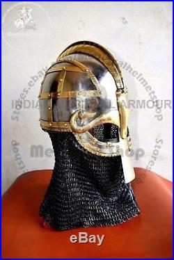 Viking helmet Vendil helmet Valsgärde 8 Helmet 16 Gauge Medieval SCA LARP Gift