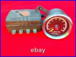 Vintage Chrome Sun Super Tach 9k Tachometer Hot Rod & Transmitter 9,000 RPM OEM
