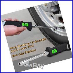 Webetop Heavy Duty Truck RV Cars Tire Pressure Gauge 0-200PSI Stainless Steel