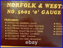 Williams Norfolk & Western Electric Train J4-8-4 #5601 O Gauge 5601 Brand New
