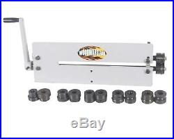 Woodward Sheet Metal Bead Roller Steel Gear Drive Bench Mount 18-Gauge Capacity