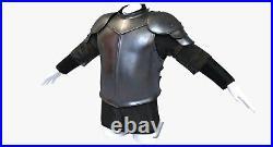 X-Mas 18 Gauge Black Larp Armor Knight Costume Collectible Medieval Costume